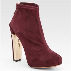 B Brian Atwood Edeline Suede Boots Size 7.5